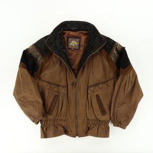VTG 90s Adventure Bound Wilsons M Leather Jacket